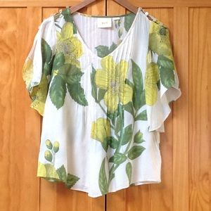Anthropologie Maeve Floral Blouse Size 0